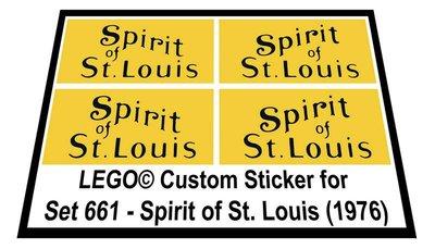 Precut Replica Sticker for Lego Set 661 - Spirit of St. Louis (1976)