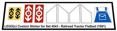 Lego 4543 - Railroad Tractor Flatbed (1991)
