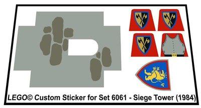 Precut Replica Sticker for Lego Set 6061 - Siege Tower (1984)