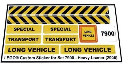 Precut Replica Sticker for Lego Set 7900 - Heavy Loader (2006)