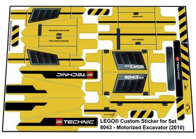 Lego 8043 - Motorized Excavator (2010)