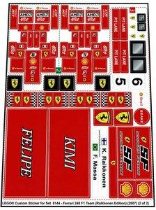 Lego 8144 - Ferrari 248 F1 Team (Raikkonen Edition) (2007)