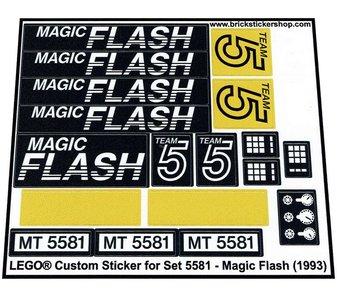 Precut Replica Sticker for Lego Set 5581 - Magic Flash (1993)