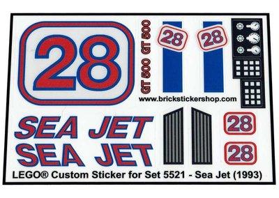Precut Replica Sticker for Lego Set 5521 - Sea Jet (1993)