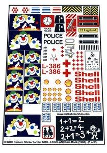 Precut Replica Sticker for Lego Set 6000 - LEGOLAND Idea Book (1980)