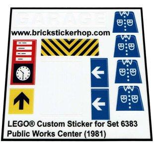 Precut Replica Sticker for Lego Set 6383 - Public Works Center (1981)