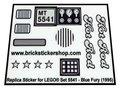 Precut-Replica-Sticker-for-Lego-Set-5541-Blue-Fury-(1995)