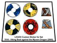 Precut-Replica-Sticker-for-Lego-Set-7016-Viking-Boat-against-the-Wyvern-Dragon-(2005)