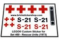 Precut-Replica-Sticker-for-Lego-Set-460-Rescue-Units-(1973)